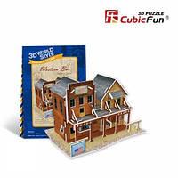 W3122h Трёхмерная головоломка – конструктор CubicFun «США. Вестерн бар»