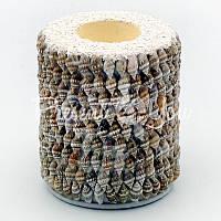 Подсвечник «Серая ракушка», h-10 см., d-9 см.