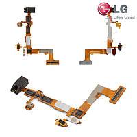 Шлейф для LG P705 Optimus L7, динамика, кнопки включения, коннектора наушников, подсветки дисплея (оригинал)