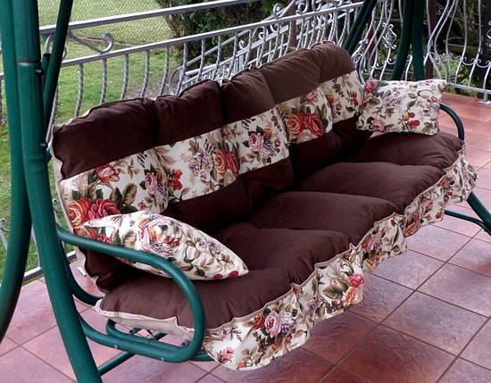 Подушки,матрасы для садовых качель 150 см. вст.цветы, фото 2