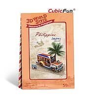 W3147h Трёхмерная головоломка – конструктор CubicFun «Филиппины. Экскурсия на джипе»