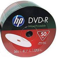 Диск HP DVD-R 4,7 GB 16x Full Surface Inkjet Printable white Shrink/50