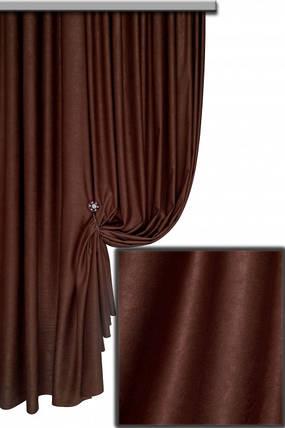 Ткань Софт-велюр №41С, Тёмный шоколад, фото 2