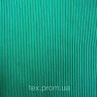 Трикотажное полотно кашкорсе (рибана 2х2) хб пенье 30/2, изумруд плотный