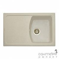Кухонные мойки Granitika Гранитная кухонная мойка с сушкой Granitika Cube Long CL785020 песок