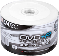 Диск Emtec DVD-R 4,7 GB 16x Full Surface Inkjet Printable white Shrink/50