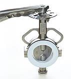 Задвижка нержавеющяя поворотная Баттерфляй GENEBRE тип 2104 AISI316 Ду200 Ру16 с редуктором, фото 7