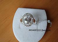 Кольцо овальное из серебра, фото 1