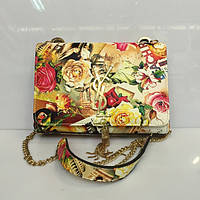 Женская сумка клатч YSL  861 из кожзама на цепочке