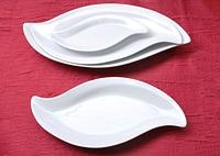 Блюдо Лист (32,5*16,5см) Хорека  (в упаковке 3 штуки)