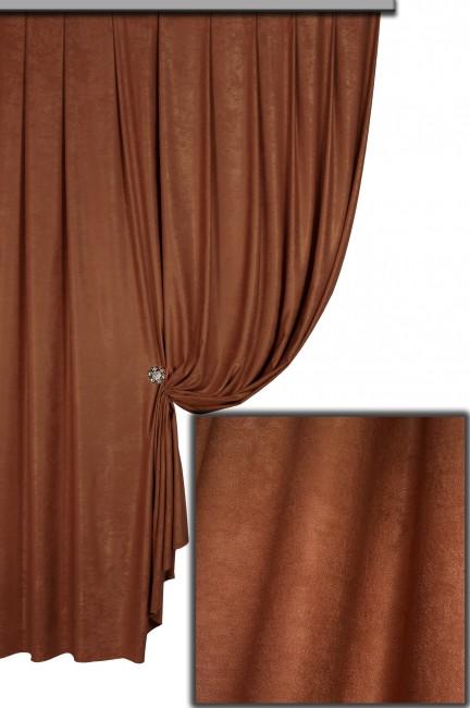 Ткань Софт-велюр №76Н, Молочный Шоколад