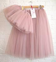 Комплект одинаковых юбок для мамы и дочки из фатина