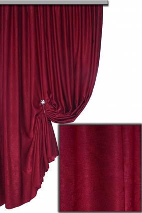 Ткань Софт-велюр №77Н, Бордовый, фото 2