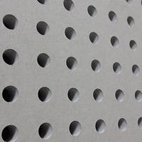 Перфорированный ГКЛ Knauf Cleaneo 6/18, Германия, круглая перфорация, 1998мм. x 1188мм. х 12,5мм.