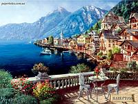 """Набор для создания объемной картины из бумаги """"Город у моря"""""""