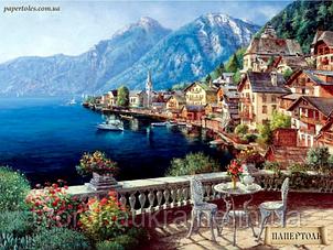 """Набір для створення об'ємної картини з паперу """"Місто у моря"""""""