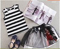 """Летняя майка и юбка на девочку """"Леди"""", фото 1"""