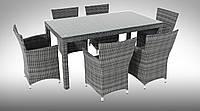 Комплект плетенный RICCIO  II стол 160см+6 кресел Condor