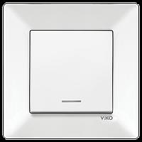 Выключатель 1-й с подсветкой Vico Meridian белый