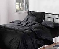 Постельное белье (черное) полуторный комплект, бязь гладкокрашеная.Опт.