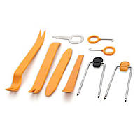 Набор инструментов съемников 8 штук для демонтажа панели приборов снятия обшивки разборки салона автомобиля