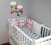 Набор детской постели с модульной охранкой №14