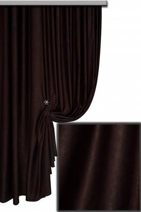 Ткань Софт-велюр №119Н, Черный кофе, фото 2