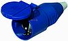 """Розетка силовая переносная РС -213 2 полюса+PE 16А 230В  IP44ТМ """"Electro"""""""