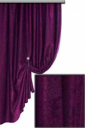 Ткань Софт-велюр №3073Н, Чернильный, фото 2