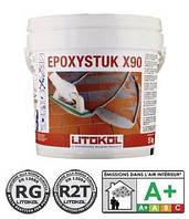 Эпоксидная затирка Epoxystuk X90 С15 серый металик, Литокол 5 кг