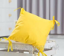 Элемент модульной охранки однотонного жёлтого цвета №6.