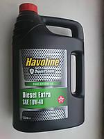 Моторное масло Texaco Havoline DIESEL Extra SAE 10W-40, 5 литров