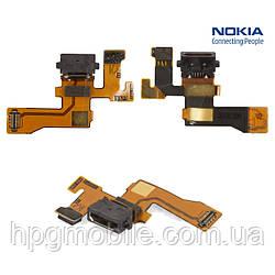 Шлейф зарядки для Nokia Lumia 1020 (RM-875, RM-876, RM-877), коннектора зарядки, с компонентами, оригинал