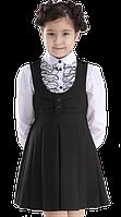 Сарафан школьный Англия 116-152 см синий черный, фото 1