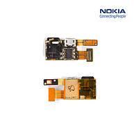 Шлейф для Nokia 5330, камеры, коннектора зарядки, коннектора наушников (оригинал)