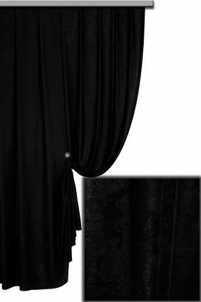 Ткань Софт-велюр Черный, фото 2
