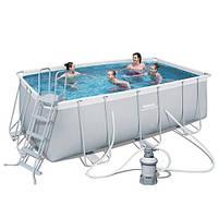 Каркасный бассейн BestWay 56457 (412х201х122 см.) ( Песочный фильтр-насос 2006 л/ч; лестница), фото 1