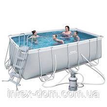 Каркасный бассейн BestWay 56457 (412х201х122 см.) ( Песочный фильтр-насос 2006 л/ч; лестница)