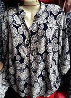 Женская летняя блуза в цветы