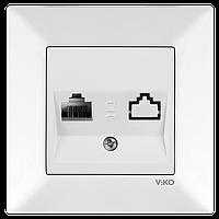 Розетка 1-я TF(телефонная) Vico Meridian белый