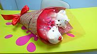 Букет из мягких игрушек - мишек