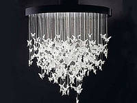 Оптоволоконная люстра - Бабочки