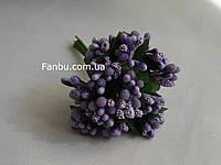 """""""Тычинки в сахаре"""" фиолетовые, искусственных на розетке листьев (1 набор - 12 веточек )"""