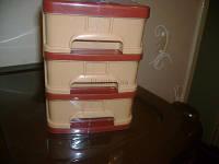Комод пластиковый канцелярский (3 ящика) Мини