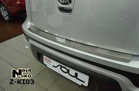 Накладки на пороги Premium Kia Soul 2009-