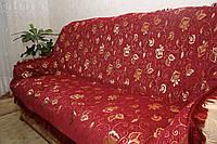 """Покрывала """"Бутон бордовый"""" из гобелена на большую кровать"""