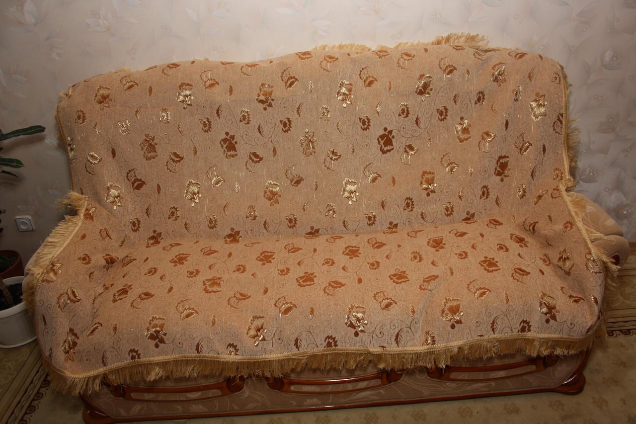 Бутон двухспальные покрывала из гобелена песочного цвета