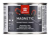 Магнетик Тиккурила акриловая краска на воде к которой липнет магнит, магнитная краска 0,5
