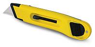 Нож 19мм трапеция 150мм выдвижное лезвие АВС-пластик серия Utility  (уп.12)