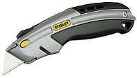 Нож 19мм трапеция 180мм выдвижное лезвие фронтальная загрузка серия Interlock (блистер)(уп.6), фото 1